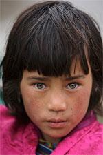 Bhutanese gal with green eyes
